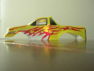 HBX 4WD TIGER RADIO CONTROL MONSTER TRUCK BODY SHELL YELLOW/RED COLOR