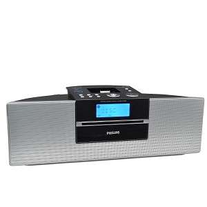 Philips DCM250 Stereo Micro Shelf CD Alarm Clock Radio Speaker System