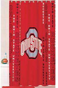 NEW OHIO STATE BUCKEYES Fabric Shower Curtain BV