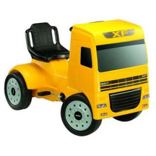 Ferbedo DAF Ride on kids Pedal Truck Yellow 3 6yrs (27522)   Kiddies