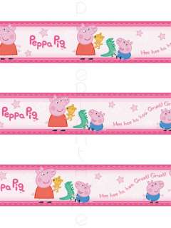 PEPPA PIG & GEORGE SELF ADHESIVE WALLPAPER BORDERS NEW