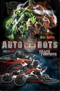 Unknown   Transformers 2   Autobots (Skids, Mudflap, Sideswipe)   art