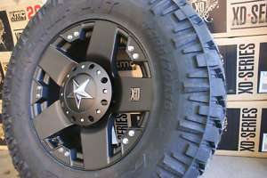 37 12.5 20 x10 Rockstar Black Rims Wheels Nitto Trail