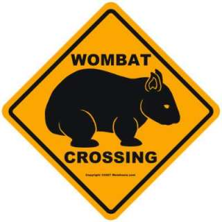 Wombania Wombat Crossing Sign aprons Zazzle Store