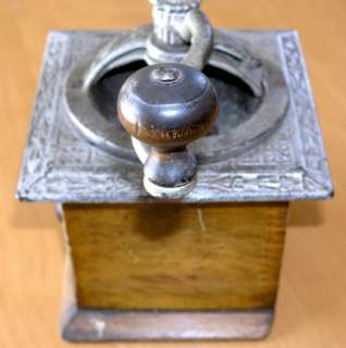 Rare Antique 19th Century Cast Iron & Wood Coffee Grinder Mill Works