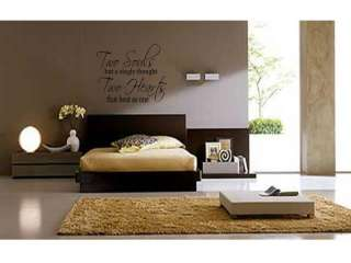 TWO SOULS TWO HEARTS Home Bedroom Wall Art Decal 36