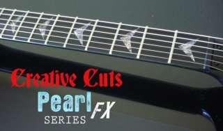 CUSTOM V ABALONE Guitar Vinyl Decal Inlay Set