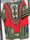 African Men Women Dashiki Shirt Blouse Top Fuchsia Yellow NotCom M L