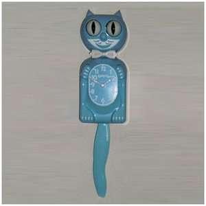 Kit Cat Baby Blue Kitty Cat Clock Decor