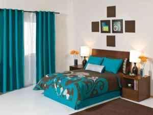 New Aqua Brown Silver Comforter Bedding Set Queen 9PC