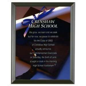 Custom 9 x 12 Appreciation Plaque/Award   Black Edges