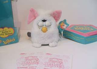 FURBY Babies TIGER ELECTRONICS 1999 Model 70 940 White Pink Green eyes