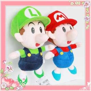 2X Nintendo Game Super Mario Brothers Bro Plush Toy Baby Mario & Luigi