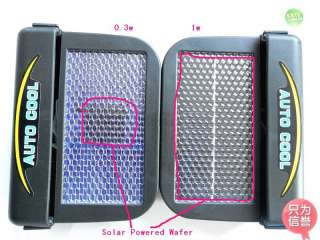 1W Solar Powered Auto Car Air Condition Cooler Fan