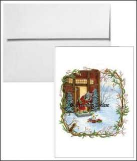 Holiday Christmas Cards Set of 10 Cards & Envelopes Blank Inside