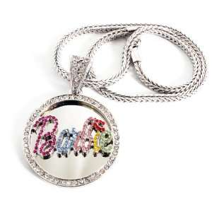 Out Nicki Minaj Barbie Pendant with 20 Inch Necklace Chain Jewelry