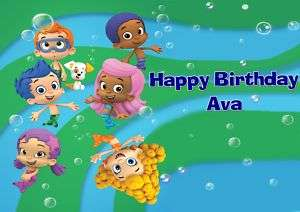 Bubble Guppies Frosting Sheet Edible Cake Topper |
