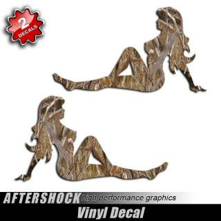 Mudflap Girl Sexy Duck Camo Sticker Hunting Decal