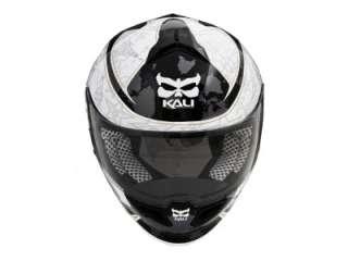 Kali Naza Carbon Liberty White Motorcycle Helmet XXL