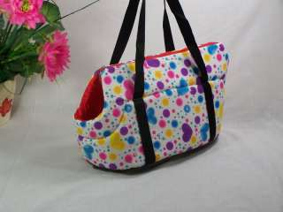 Beauty Heart Dog Cat Pet Travel Carrier Tote Bag/Purse