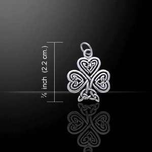 Lucky Irish SHAMROCK Celtic .925 Sterling Silver Charm   Boxed
