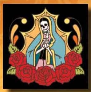 Guadalupe 6 x 6 CERAMIC TILE Day of Dead Dias Muertos