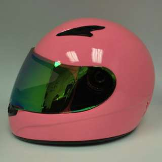 New Youth Kids Motorcycle Full Face Helmet Glossy Pink Size S M L XL