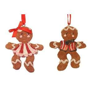 Club Pack of 12 Gingerbread Kisses Candy Boy & Girl