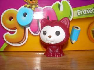 Eraserland Pink Glitter Gel KITTEN CAT KITTY g405 Pet Eraser HTF