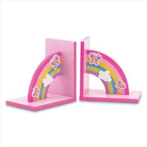 BUTTERFLY RAINBOW LIBRARY KIDS BOOKENDS BOOK END ENDS