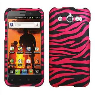 Hot Pink Zebra Hard Case Cover for Cricket Huawei Mercury M886 Glory