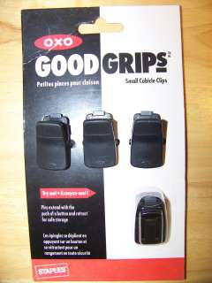 OXO Good Grips Black Small Cubicle Clips w/Retractable Pins