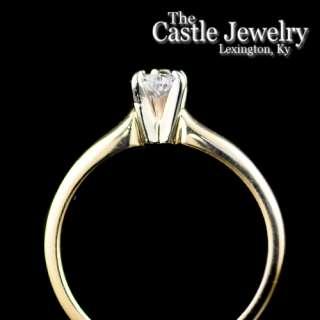 .35 C Diamond Solitaire 14 Karat Yellow Gold Engagement Ring