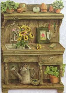 Holly Pond Hill Garden Flowers Workbench Thank You Card
