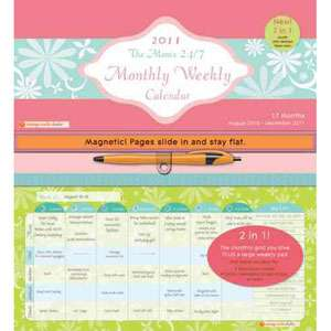 24/7 Mom Monthly/Weekly 2011 17 month Calendar, null ARCHIVE