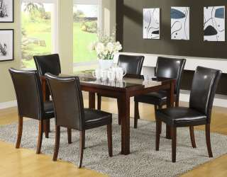 Piece Faux Marble Top Dining Table and Chair Set