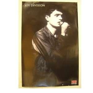 Joy Division poster Ian Curtis singing