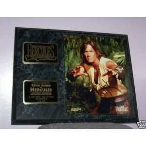 HERCULES KEVIN SORBO AUTOGRAPHED FRAMED PLAQUE Everything