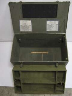 Large Green Army Military Storage Box Chest Trunk Crate
