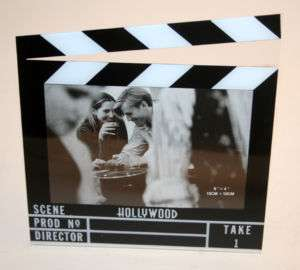 HOLLYWOOD THEME PARTY FAVOR CLAPBOARD PHOTO FRAME 6 X 4
