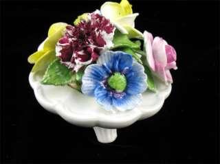 Art Pottery Bone China Staffordshire Floral Vase Basket Bouquet