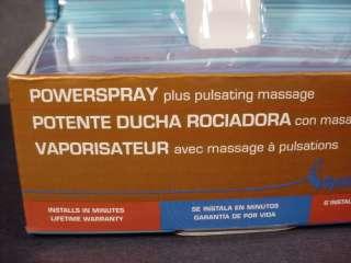 Held Shower Head 6 Spray Settings 5 Ft. Hose Pulsating Massage