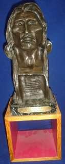 FREDERIC REMINGTON Bronze SCULPTURE The Savage Bust Art