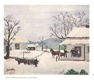 GRANDMA MOSES print HOME FOR THANKSGIVING