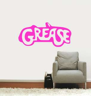 Grease Movie Wall Vinyl Mural Art Sticker/Decal