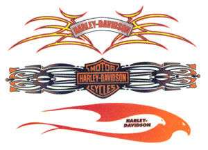 Harley Davidson Bar & Shield Tribal Tattoo Decal