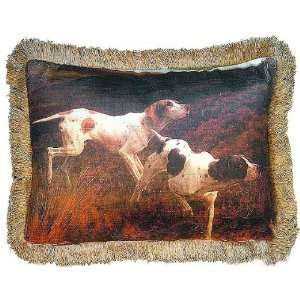 Antique Art Reproduction English Pointers Dog Pillow