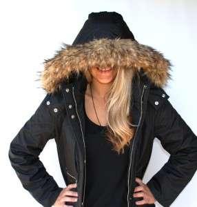 New Womens Michael Kors Coat Jacket Faux Fur Hood Size Small