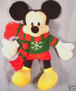 MICKEY MOUSE Holiday Christmas Sweater 18 Plush NEW