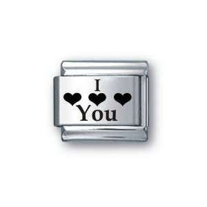 Body Candy Italian Charms Laser I Love You: Jewelry